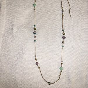 Forever 21 green/gold bead necklace